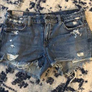 Polo RL distressed jean shorts